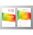 Flyer template Cover Magazine Brochure template vector image