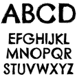 Grunge font full alphabet letter vector image