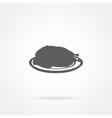 icon chicken vector image