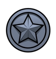 Iron star vector image