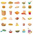Mixed food vector image