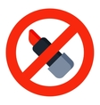 No lipstick sign vector image