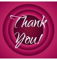 Thank you retro cartoon style vector image