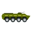 Armoured troop carrier icon flat style vector image