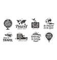 Travel set icons Handwritten lettering Label vector image