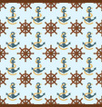 yacht steering wheel seamless pattern vector image