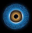 Abstract technology digital circle eye vector image