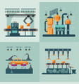industrial factory interior square concept vector image