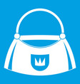 bag icon white vector image