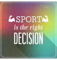 Sport typographic design vector image