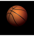 Basketball on Black Background vector image vector image