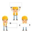 cartoon construction worker vector image vector image