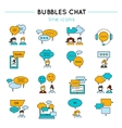 Chat Line Icon Set vector image