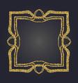 art nouveau gold glitter decorative rectangle vector image