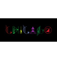 Chicago city typography vector image