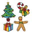 christmas items vector image
