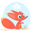 cute cartoon fox character vector image