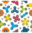 Different colored spinners pattern vector image