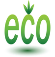 Eco Green sign isolated vector image