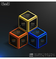 isometric infographic with colorful cubes vector image