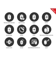 Media smartwatch icons on white background vector image