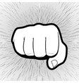 punching hand with a clenched fist aimed vector image