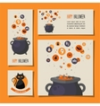set of halloween cards ivitations and banners vector image