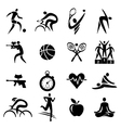 Sport fitness healthy lifestyle icons vector image