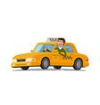 taxi driver concept car transport vector image