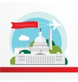 United States Capitol - The symbol of US vector image
