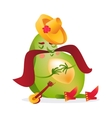 Avocado character with Mexican boots sombrero and vector image vector image