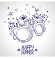 glasses silhouette vector image