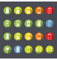 Battery Icons Flat Design vector image