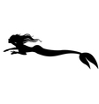 mermaid swimming vector image vector image