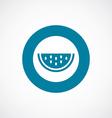 watermelon icon bold blue circle border vector image