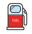 Gas station icon retro style vector image