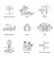 Traveling Vacation Journey Icons vector image vector image