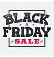 Black friday sale lettering on chalklboard vector image