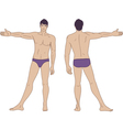 standing naked man vector image vector image