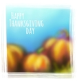 autumn background for Thanksgiving Day vector image