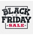 Black friday sale lettering on chalklboard vector image