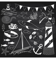 Chalkboard Nautical Set vector image