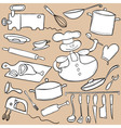 Cooking Doodle Set vector image