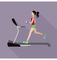 Girl on a treadmill vector image