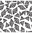 hand-painted seamless pattern with triangle vector image