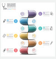Healthcare And Medical Infographic With Pill vector image