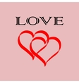 Heart two love vector image