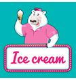 icecream bear banner vector image