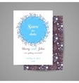 Wedding Invitation With Blue Flowers vector image