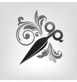 scissors stylization vector image vector image